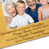 Nanny and Grandad - Engraved Solid Wood Photo Frame - engraving-gallery.com