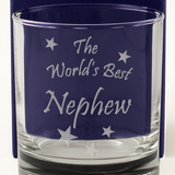 The World's Best Nephew - Engraved Whisky Tumbler Glass - engraving-gallery.com