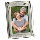 Pearl Wedding Anniversary - Silver Plated, Silver Photo Frame - engraving-gallery.com