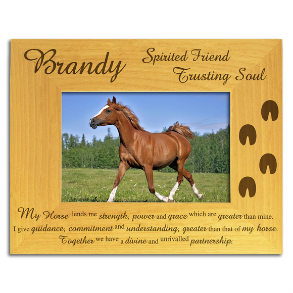 Personalised Horse Wood Photo Frame - engraving-gallery.com