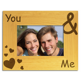 You & Me - Personalised Wood Photo Frame - engraving-gallery.com