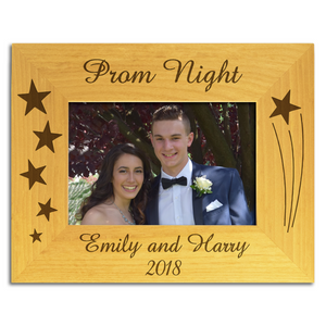Prom Night - Personalised Wood Photo Frame - engraving-gallery.com