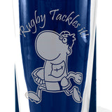Rugby - Rugby Tackles It - Engraved Beer Pint Glass - engraving-gallery.com