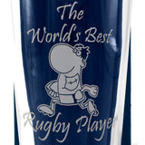 Rugby - World's Best Rugby Player - Engraved Modern Beer Pint Glass - engraving-gallery.com