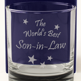 The World's Best Son-in-Law - Engraved Whisky Tumbler Glass - engraving-gallery.com