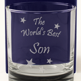 The World's Best Son - Engraved Whisky Tumbler Glass - engraving-gallery.com