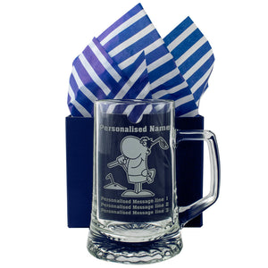 Golf - Personalised Engraved Beer Pint Glass Tankard