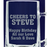 Cheers - Personalised Beer Pint Glass - engraving-gallery.com