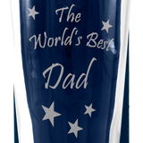 Dad - The World's Best Dad - Engraved Beer Pint Glass - engraving-gallery.com