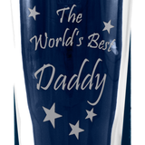 Daddy - The World's Best Daddy - Engraved Beer Pint Glass - engraving-gallery.com