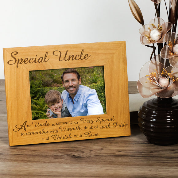 Uncle - Engraved Wood Photo Frame - engraving-gallery.com