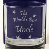The World's Best Uncle - Engraved Whisky Tumbler Glass - engraving-gallery.com