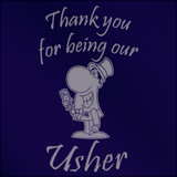 Thank You for Being Our Usher  - Engraved Tankard Beer Pint Glass - engraving-gallery.com