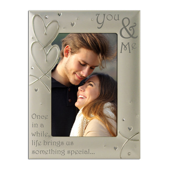 You and Me - Silver Plated Photo Frame - engraving-gallery.com