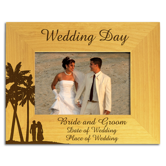 Wedding Aboard - Personalised Wood Photo Frame - engraving-gallery.com