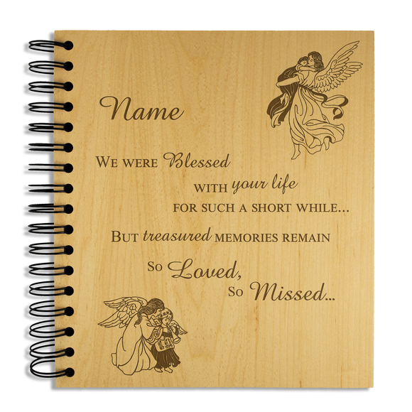 Child Bereavement - Personalised Wood Album - engraving-gallery.com