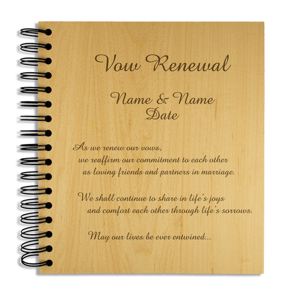 Vow Renewal - Personalised Wood Album - engraving-gallery.com