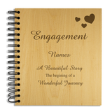 Engagement - Personalised Wood Album - engraving-gallery.com