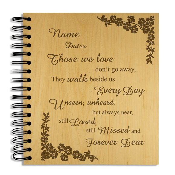 Those we love, Bereavement - Personalised Wood Album - engraving-gallery.com