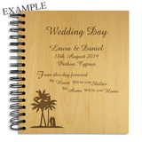 Wedding Day, Abroad - Personalised Wood Album - engraving-gallery.com