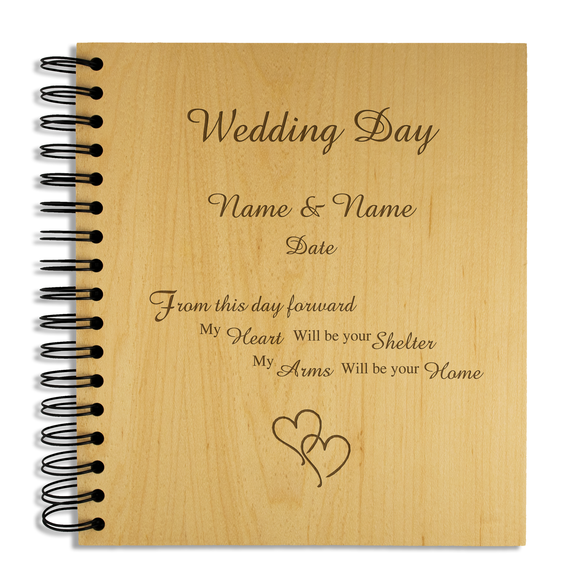 Wedding Day - Personalised Wood Album - engraving-gallery.com
