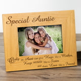 Auntie - Engraved Solid Wood Photo Frame - engraving-gallery.com