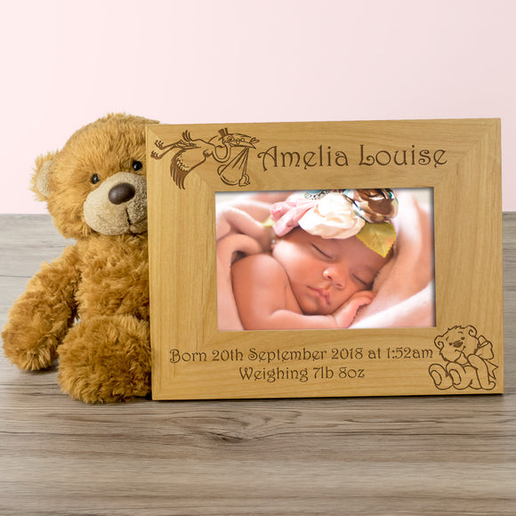 Birth - Personalised Solid Wood Photo Frame
