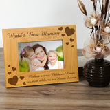 Mummy, Worlds Best - Engraved Solid Wood Photo Frame - engraving-gallery.com