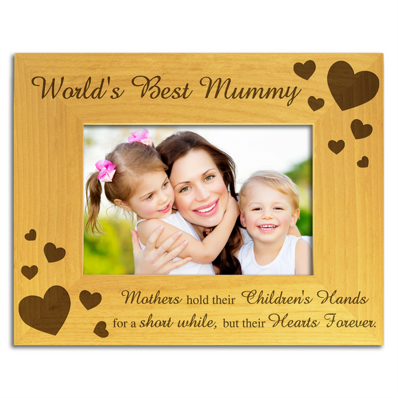 World's Best Mummy - Engraved Wood Photo Frame - engraving-gallery.com