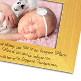 Baby Girl, Personalised Wood Photo Frame Close Up - engraving-gallery.com