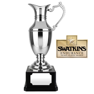 Swatkins C29 Nickel Plated Endurance Claret Jug Award Trophy In 4 Sizes - engraving-gallery.com
