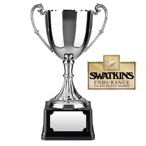 Swatkins C9 Nickel Plated Endurance Cup Award Trophy In 6 Sizes - engraving-gallery.com