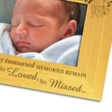 Child Baby Bereavement - Personalised Wood Photo Frame Close Up - Engraving-Gallery.com