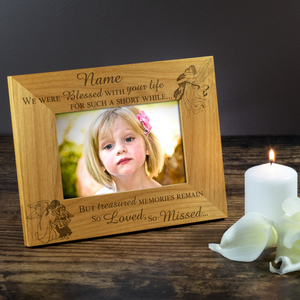 Child Bereavement - Engraved Solid Wood Photo Frame - engraving-gallery.com