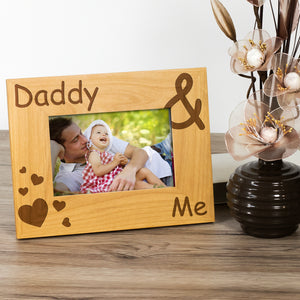 Daddy and Me - Engraved Wood Photo Frame - engraving-gallery.com