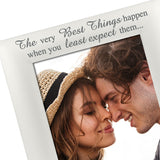 The Very Best Things - Silver Plated Love Hearts Photo Frame - engraving-gallery.com