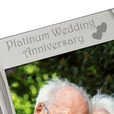 Platinum Wedding Anniversary - Silver Plated, Silver Photo Frame - engraving-gallery.com