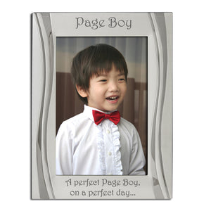 Page Boy, on a Perfect Day - Silver Plated Photo Frame - engraving-gallery.com