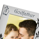Godfather - Silver Plated Photo Frame - engraving-gallery.com