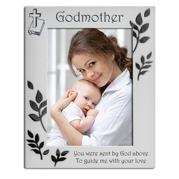 Godmother - Silver Plated Photo Frame - engraving-gallery.com