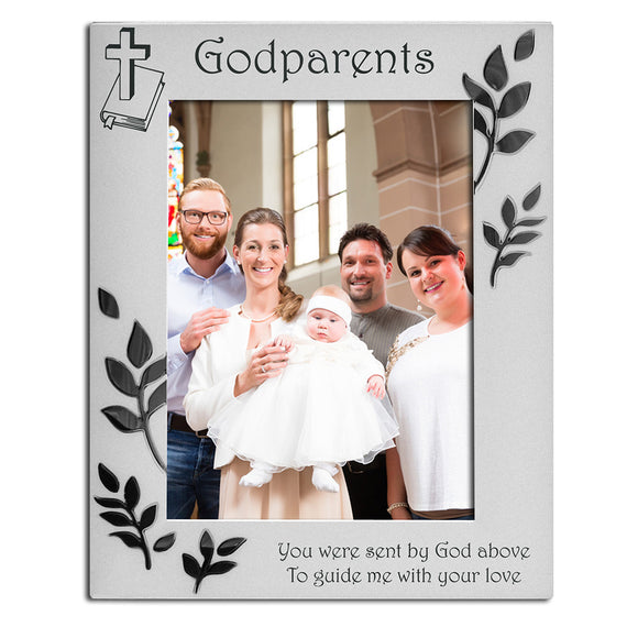 Godparents - Silver Plated Photo Frame - engraving-gallery.com