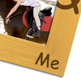My Pony and Me - Engraved Solid Wood Photo Frame - engraving-gallery.com