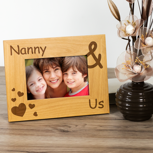 Nanny and Us - Engraved Solid Wood Photo Frame - engraving-gallery.com
