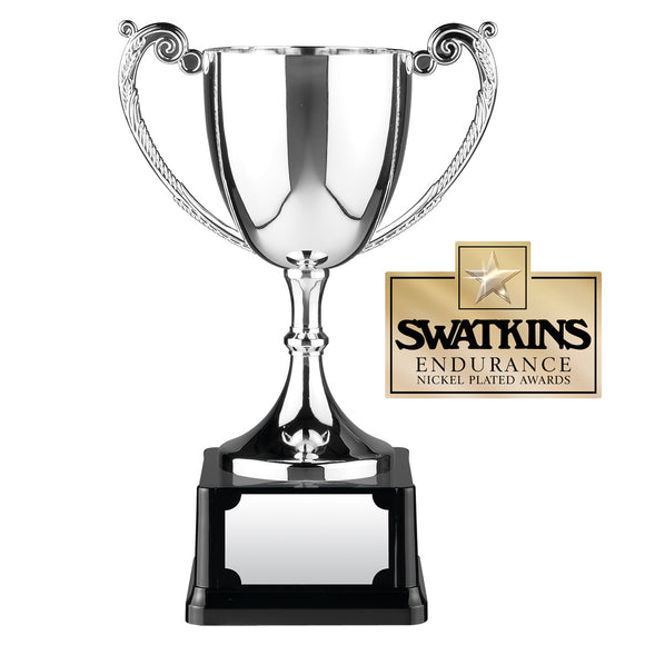 Swatkins C6 Nickel Plated Endurance Cup Award Trophy In 6 Sizes - engraving-gallery.com