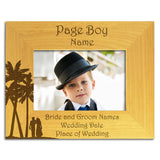 Page Boy Abroad - Personalised Wood Photo Frame Landscape View - engraving-gallery.com