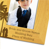 Page Boy Abroad - Personalised Wood Photo Frame Portrait View Close Up  - engraving-gallery.com