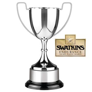 Swatkins PC5 Nickel Plated Endurance Cup Award Trophy In 6 Sizes - engraving-gallery.com