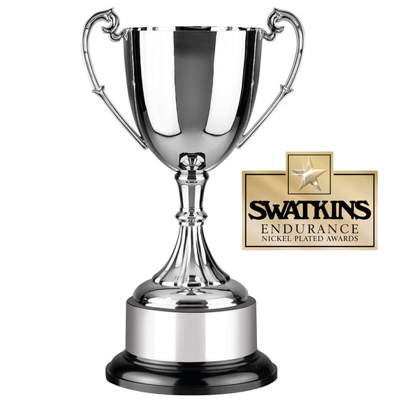 Swatkins PC9 Nickel Plated Endurance Cup Award Trophy In 7 Sizes - engraving-gallery.com