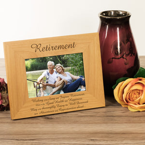 Retirement - Engraved Wood Photo Frame - engraving-gallery.com