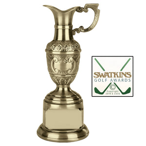 Swatkins St Anne's Claret Jug Award Trophy In Silver or Gold Finish in 3 Sizes - engraving-gallery.com